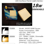 8080SQ/18W DIMMABLE